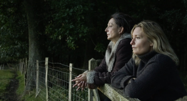 Sally Mortemore and Emma Spearing in a scene from the feature film The Silence After Life